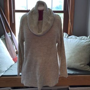 H&M oatmeal color cowl sweater